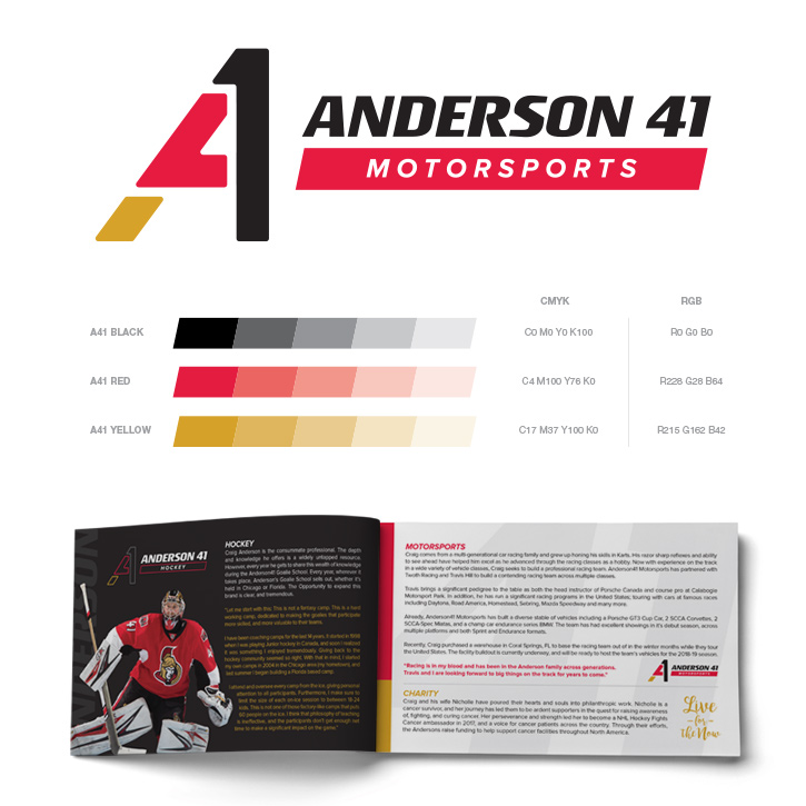 A41 logo and brochure