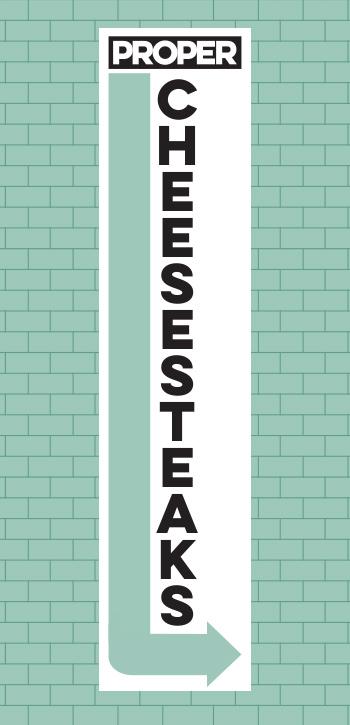 Cheesesteak Vert Sign